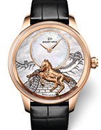 JAQUET DROZ(ジャケ・ドロー) Petite Heure Minute Relief Horse(プティ・ウール ミニット レリーフ ホース)