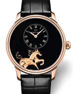 JAQUET DROZ(ジャケ・ドロー) Petite Heure Minute Low Relief Horse(プティ・ウール ミニット ローレリーフ ホース)