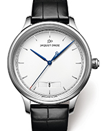 JAQUET DROZ(ジャケ・ドロー) Grande Heure Minute Quantième Silver (グラン・ウール ミニット カンティエーム シルバー)
