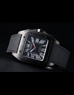 Cartier(カルティエ) Santos 100 Carbon watch LM(サントス 100 カーボン ウォッチ LM)