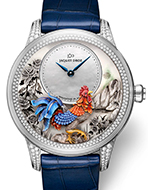 JAQUET DROZ(ジャケ・ドロー) Petite Heure Minute Relief Rooster(プティ・ウール ミニット レリーフ ルースター)