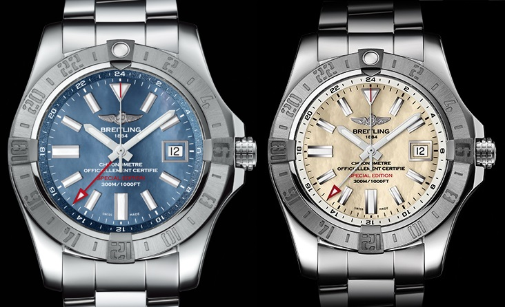 『BREITLING』  AVENGER II GMT MOTHER OF PEARL GMT マザーオブパール