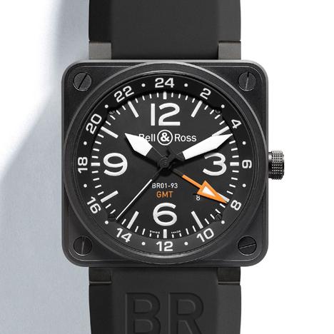 ベル&ロス BR01-93 24H GMT (Bell & Ross INSTRUMENT BR01-93 24H GMT)