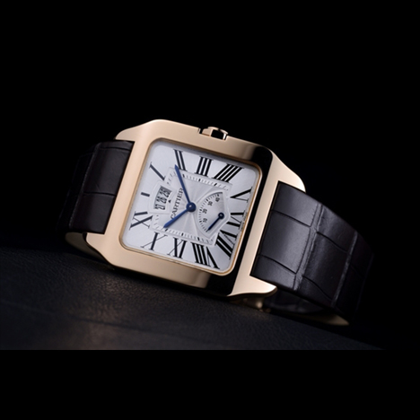 official photos ddde9 91567 カルティエ(Cartier) サントス デュモン カレンダー&パワー ...