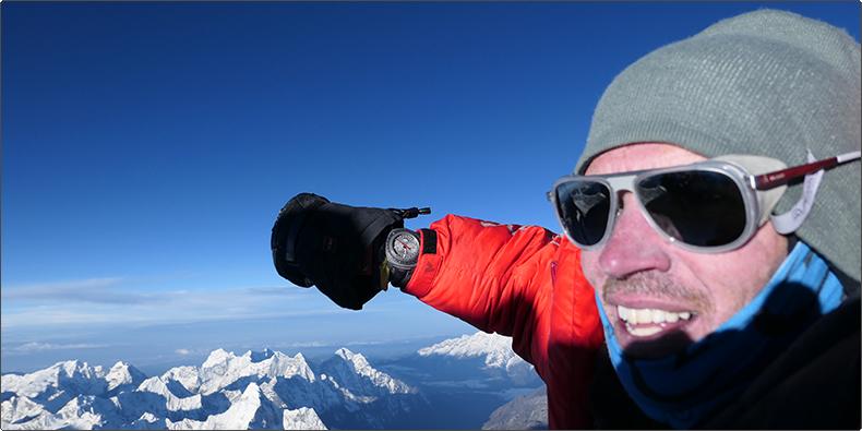 ブランドアンバサダー エイドリアン・バリンジャー氏、エベレスト&チョ・オユーの登頂成功