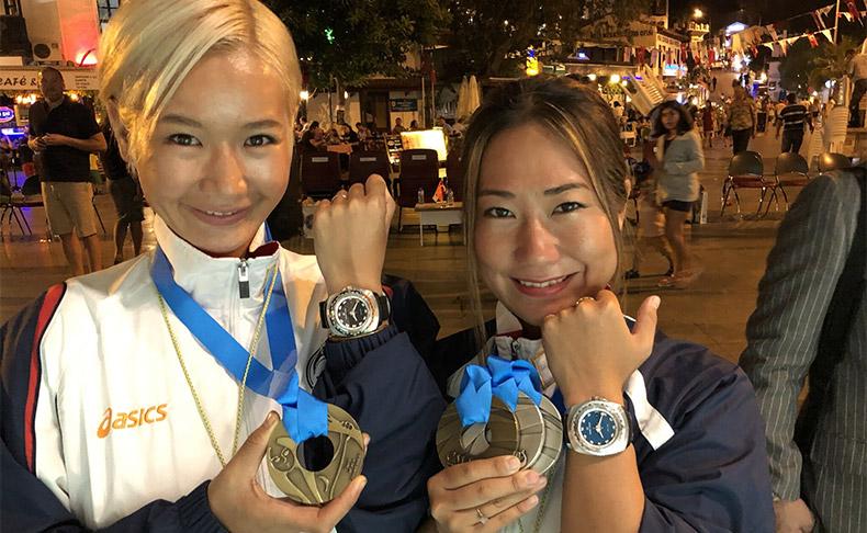 「レイダー・ディープブルー」にサポートされ、フリーダイビング世界大会(トルコ)にてHANAKO&木下紗佑里がメダル獲得