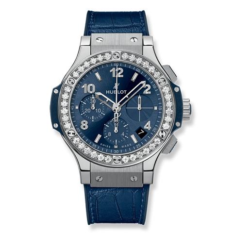 ウブロ HUBLOT ビッグ・バン スチール ブルー ダイヤモンド 341.SX.7170.LR.1204