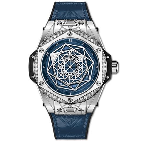 ウブロ HUBLOT ビッグ・バン ワンクリック サンブルー スチール ブルー ダイヤモンド 465.SS.7179.VR.1204.MXM19