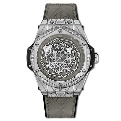 ウブロ HUBLOT ビッグ・バン ワンクリック サンブルー スチール グレー ダイヤモンド 465.SS.7047.VR.1204.MXM20