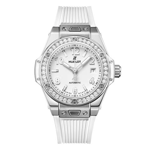 ウブロ HUBLOT ビッグ・バン ワンクリック スチール ホワイト ダイヤモンド 485.SE.2010.RW.1204