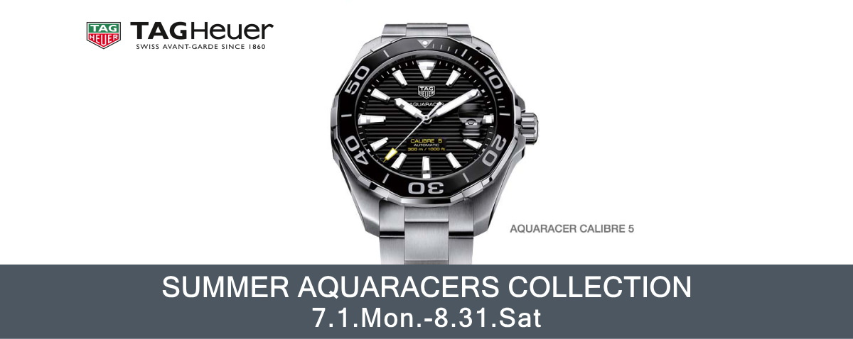 SUMMER AQUARACERS COLLECTION 8月31日まで開催
